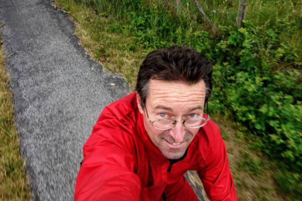 Selfie op de fiets