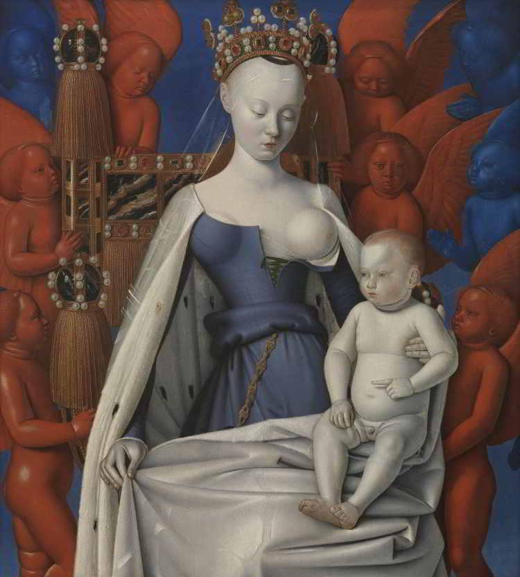 Schilderij met Agnès Sorel, maïtresse van de koning