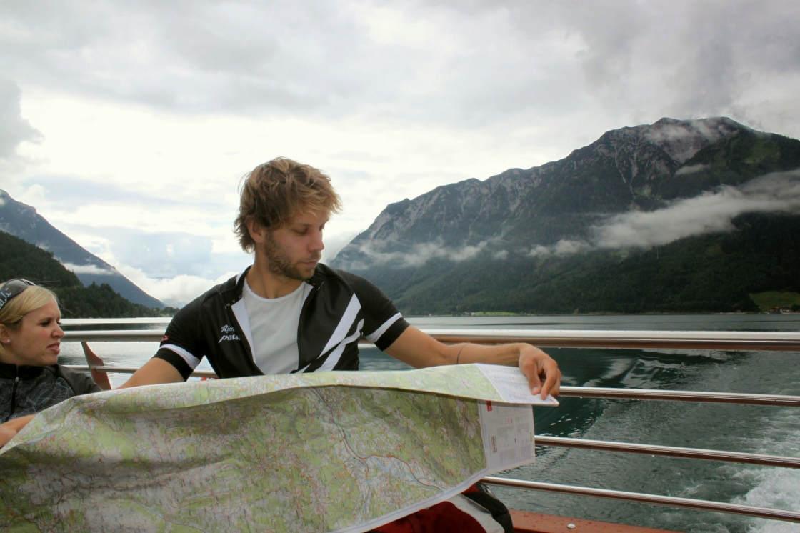 Boottochtje over de Achensee tijdens de Tirol Mountain Bike Safari