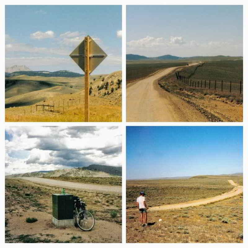 Collage van de mtb route Great Divide