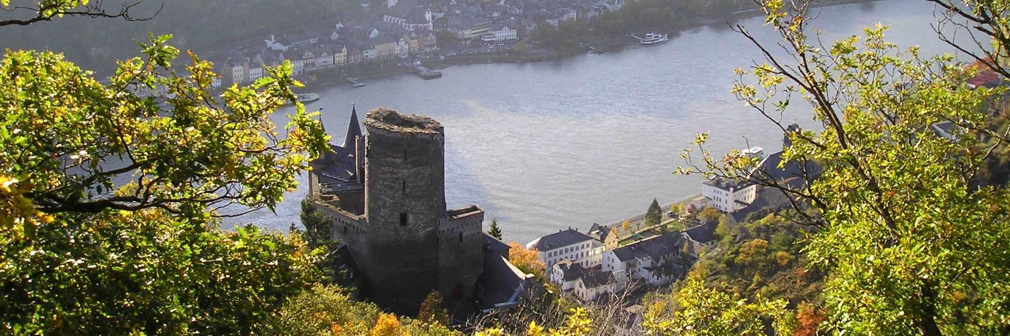 headerfoto Rheinsteig Burg Katz