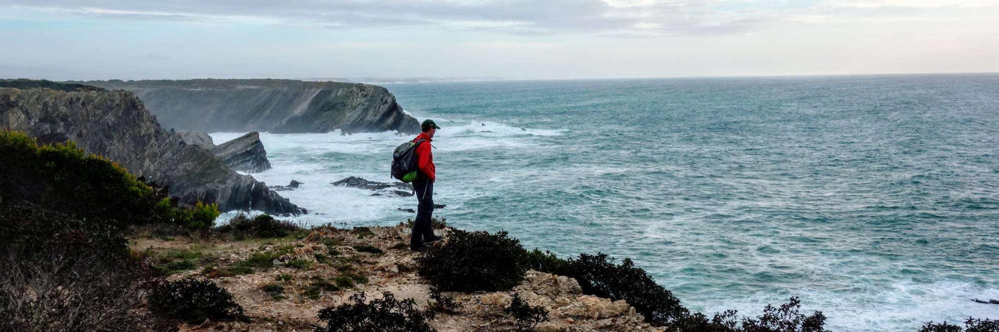 headerfoto wandelaar op de Fishermen's Trail