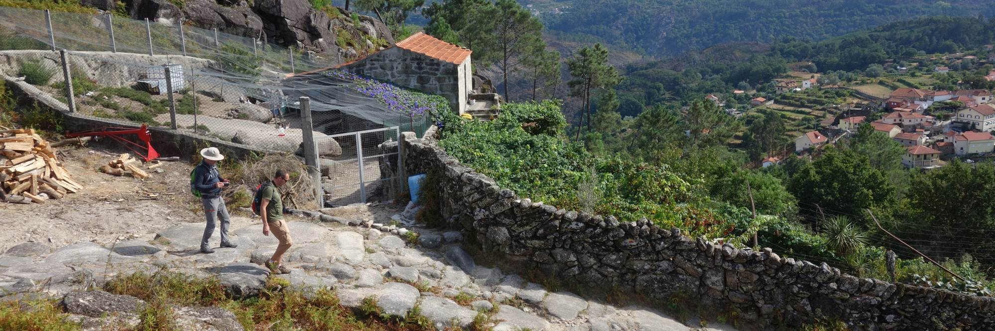 Wandelaars in Noord-Portugal