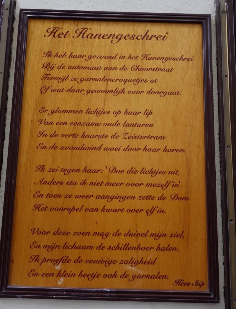 Plakaat met tekst Hanengeschrei